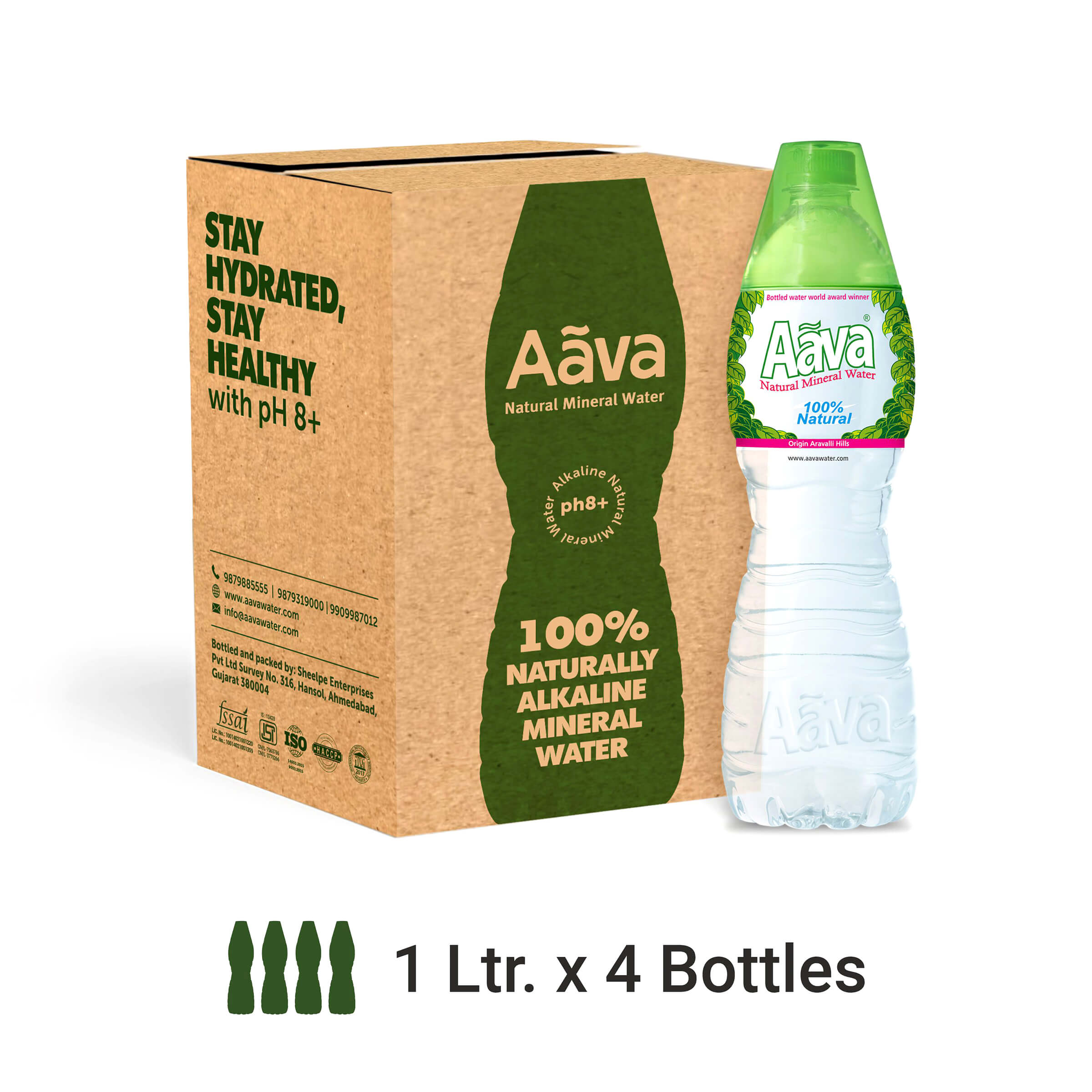 Buy Aava Alkaline Natural Mineral Water 1 Ltr Cup-Cap ...